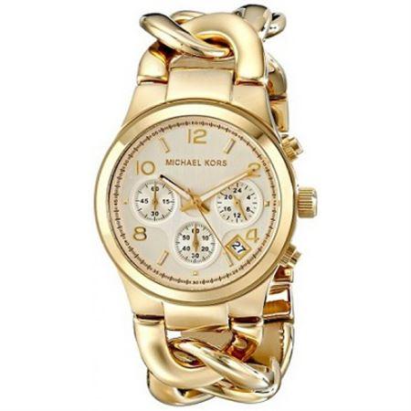 Picture of Michael Kors Women's Runway Gold-Tone Watch MK3131