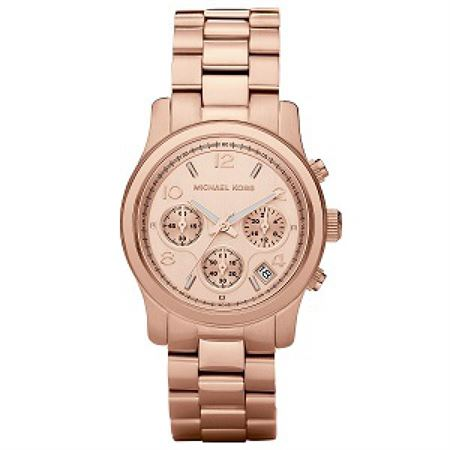 Picture of Michael Kors Women's Runway Rose Gold-Tone Stainless Steel Watch MK5128