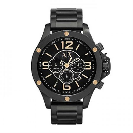 Picture of Armani Exchange Men's AX1513 Analog Display Analog Quartz Black Watch