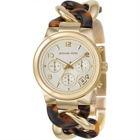 Picture of Michael Kors Two Tone Stainless Gold Dial Chronograph for Women's MK4222