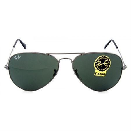 b6546d9afe9 Ray-Ban Aviator Sunglasses Gunmetal Crystal Gray-Green RB3025 W0879 58mm