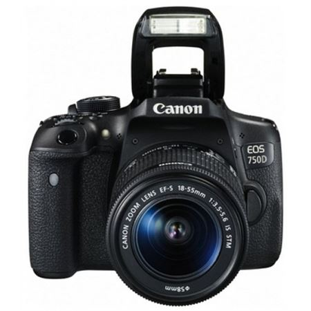 Picture of Canon EOS 750D Digital SLR Camera (24.2 MP, 18 - 55 mm Lens, CMOS Sensor) 3-Inch LCD
