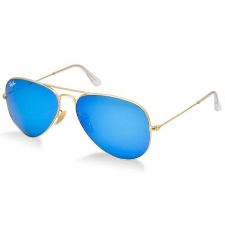 4e4eb310d9 Picture of Ray-Ban Aviator Sunglasses Matte Gold   Blue Mirror Lens RB3025  112