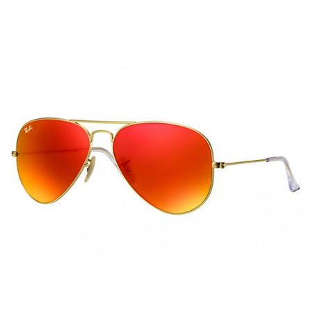 657ef02c7867 Picture of Ray-Ban Aviator Sunglasses Matte Gold Orange Mirror RB3025-112