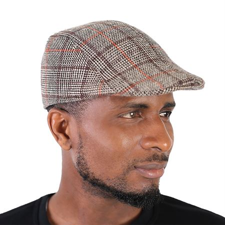 Picture of Check Pattern Papa's Cap - Brown Multi