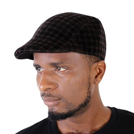 Picture of Suede Pattern Papa's Cap - Coffee Brown