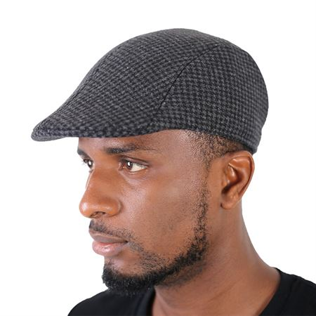 Picture of Pattern Check Papa's Cap - Grey