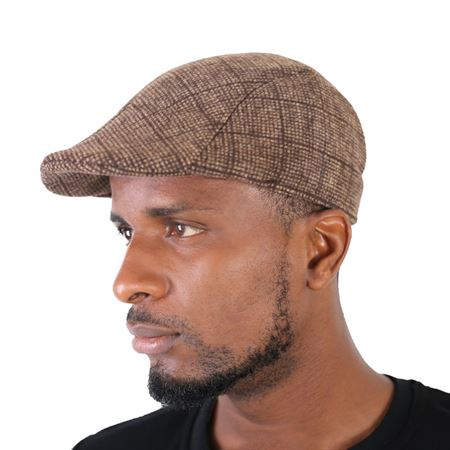 Picture of Brown Check Multi Papa's cap
