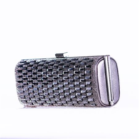 Picture of Fashion Multi Crystal Clutch Purse,Black.