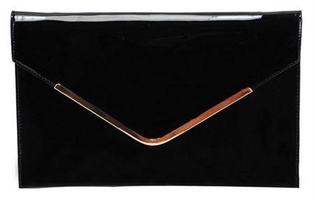 Picture of Envelope Black Pocket Purse By David Jones