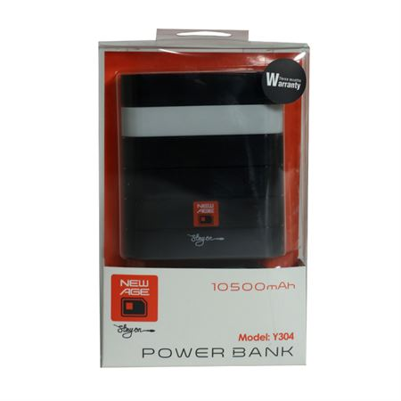 Picture of New Age 10500mAh Mobile Power Bank - Black
