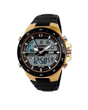 Picture of Skmei Sports Wrist Watch - Gold/Black Ring Face