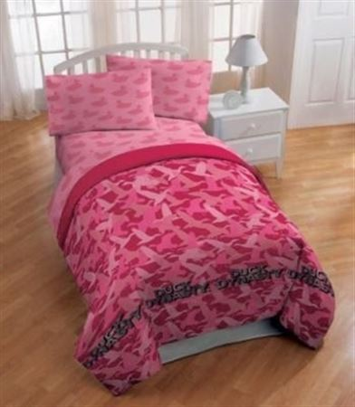 "Picture of Duck Dynasty ""Pink Camo"" Full Sheet Set"