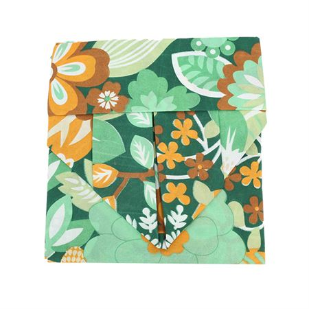 Picture of Floral Print Bedsheet- Green Multi