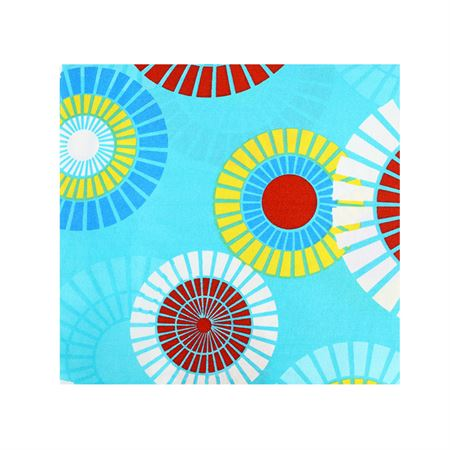 Picture of Patterned Bedspread - Teal Multi