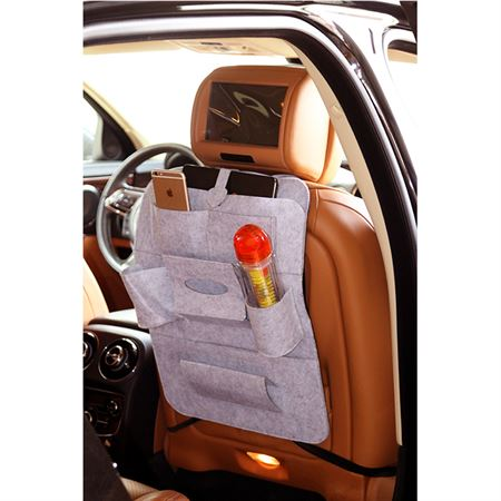 Picture of Car Seat Multi-Pocket Pouch Bag - Grey