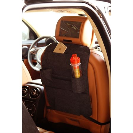 Picture of Car Seat Multi-Pocket Pouch Bag - Charcoal