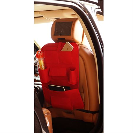 Picture of Car Seat Multi-Pocket Pouch Bag - Red