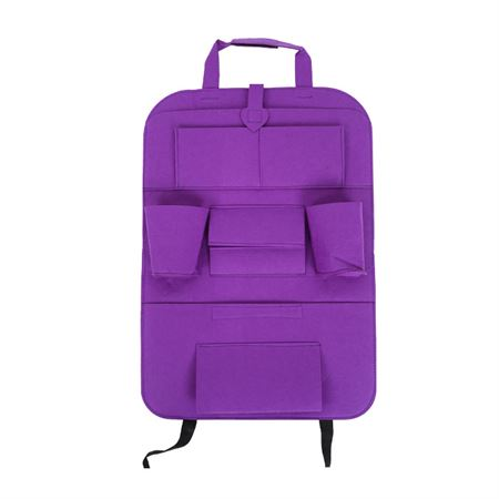 Picture of Car Seat Multi-Pocket Pouch Bag - Purple