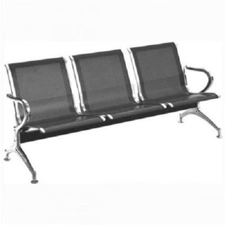 Picture of 3 Seater Reception Chair - Black