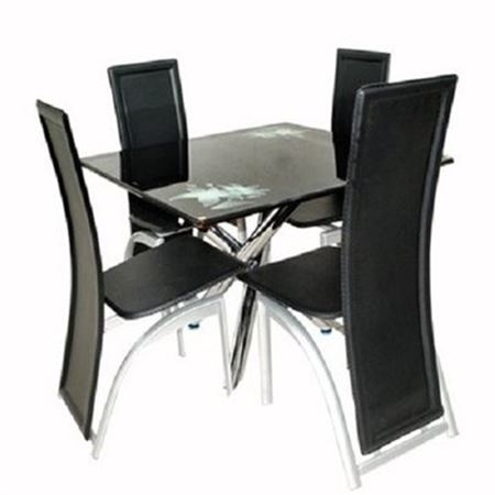 Picture of Dining Table With 4 Dining Chair - Black