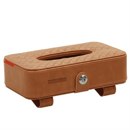 Picture of Promate TissueBox Car Sun Visor Mounted Tissue Dispenser Brown