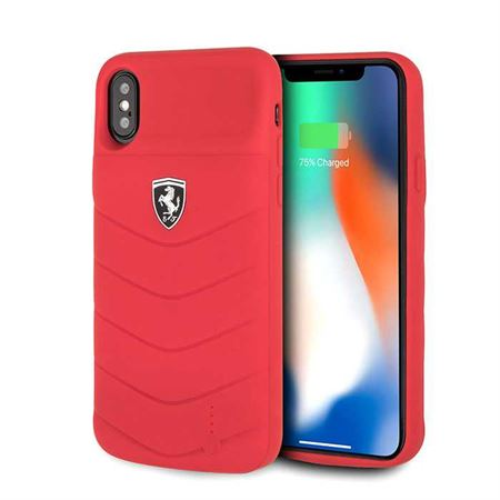 Picture of Ferrari Off Track Full Cover Power Case 3600mAh for iPhone X / XS - Red