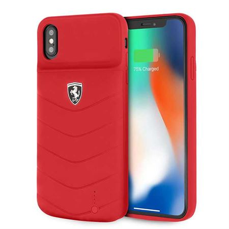 Picture of Ferrari Off Track Full Cover Power Case 4000mAh for iPhone XS Max - Red