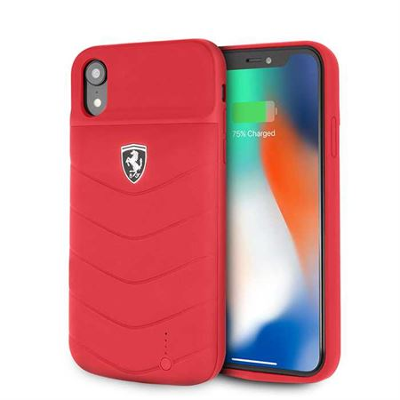 Picture of Ferrari Off Track Full Cover Power Case 4000mAh for iPhone XR - Red