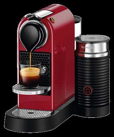 Picture of Nespresso Citiz & Milk C122 Coffee Machine - Cherry Red