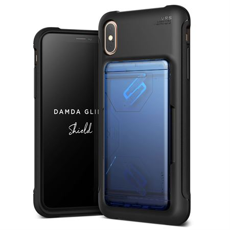 Picture of VRS Design iPhone XS Max Damda Glide Shield Semi Automatic Card Wallet cover / case - Solid Blue Black