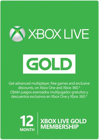 Picture of Xbox Live Gold Card 12 Months Membership