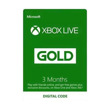 Picture of Xbox Live Gold Card 3 Months Membership