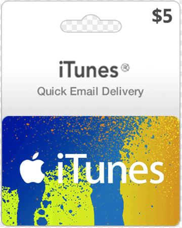 Picture of Apple iTunes $5 Digital Gift Card