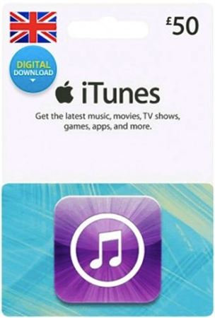 Picture of iTunes UK £50 Digital Gift Card