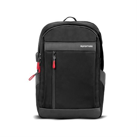 Picture of Promate Laptop Backpack  Multi-Purpose 13 Inches Laptop Travel Backpack with USB Charging Port  Multiple Storage  Adjustable Straps and Water Resistant for Laptops  Tablets  Documents  Unisex  Metro-BP Black