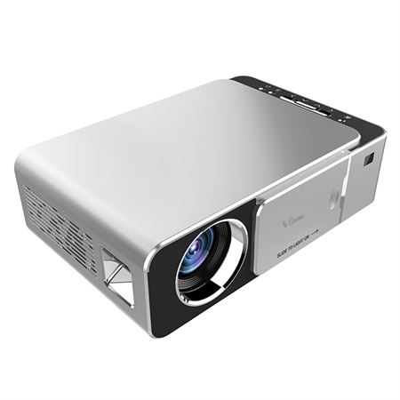 Picture of Ozone T6 Home Theater Projector HD LED Portable Mini Projector with USB HDMI AV VGA Audio Port - Silver
