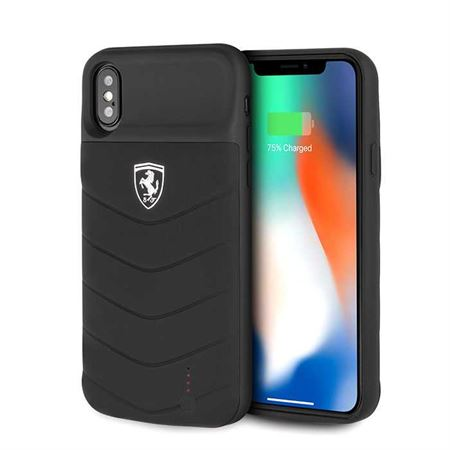 Picture of Ferrari Off Track Full Cover Power Case 3600mAh for iPhone X / Xs - Black