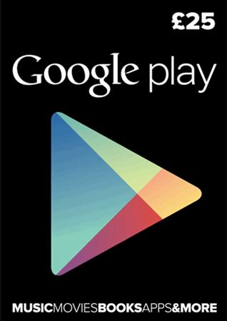 Picture of Google Play UK £25 Gift Card