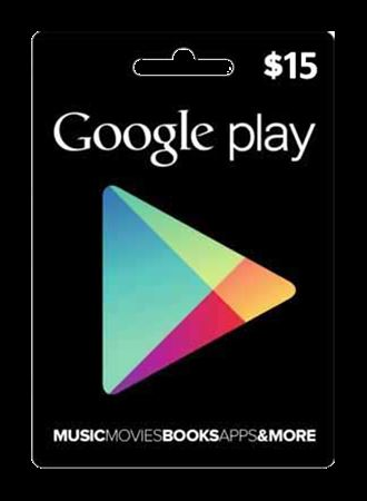 Picture of Google Play $15 Gift Card