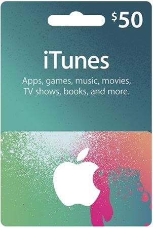 Picture of Apple iTunes $50 Gift Card