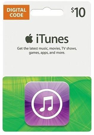 Picture of Apple iTunes Gift Card $10