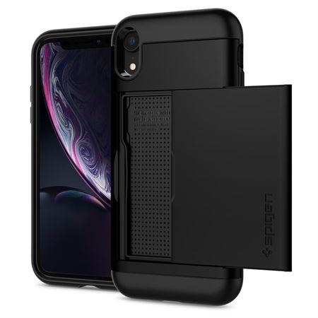 Picture of Spigen iPhone XR Slim Armor CS Card Slot wallet cover / case - Black