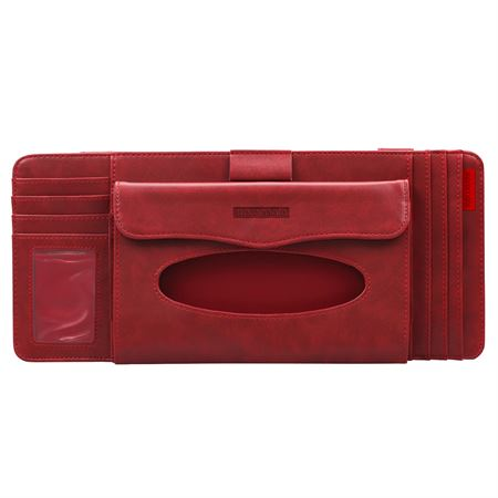 Picture of Promate CarCaddy Multi-Function Car Visor Organiser  Red