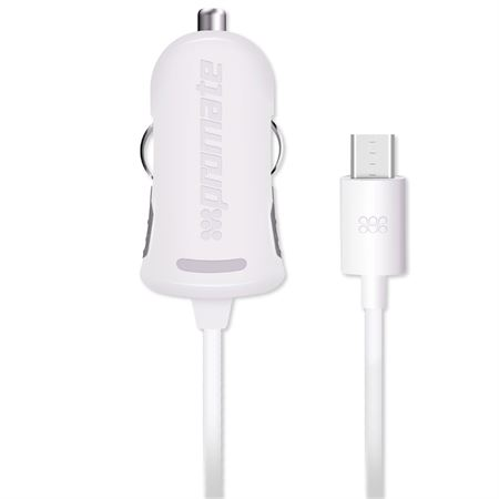 Picture of Promate Universal Car Charger with Built-in Micro-USB cable Procharge-M1 White