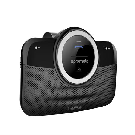 Picture of Promate Car Bluetooth Speakerphone  Hands-Free Bluetooth Car Kit in-car Dual Speakerphone with Voice Command  Multipoint Pairing and Car Charger for iPhone 7  iPad  Samsung S8 / S8+ - CarMate-8