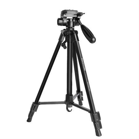 Picture of Promate Tripod  Professional Portable Aluminium 141cm Tripod with Panoramic Head  Bubble Level  3 Section Secure Leg Lock for Canon  Nikon  DSLR  Precise-140