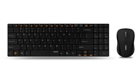 Picture of Rapoo 9060 Ultra-Slim Wireless Keyboard and Mouse 2-in-1 Combo Black