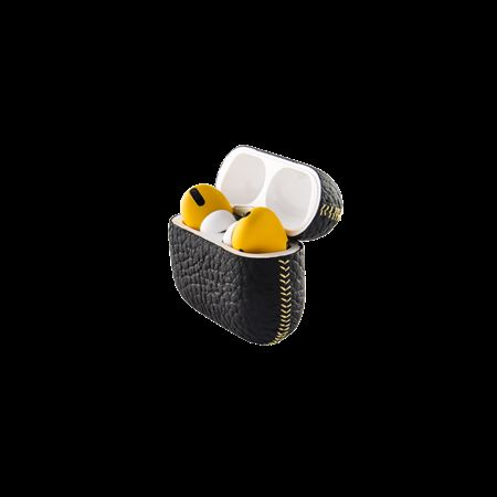 Picture of Merlin Craft Royal Collection Apple AirPods Pro Calf Black With Yellow