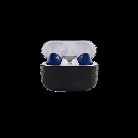 Picture of Merlin Craft Royal Collection Apple AirPods Pro Calf Black With Blue